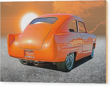 Tangerine Sunset Wood Print by Stephen Warren