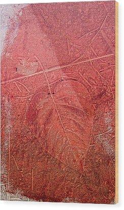 Tangerine Tango Heart Wood Print by Bonnie Bruno