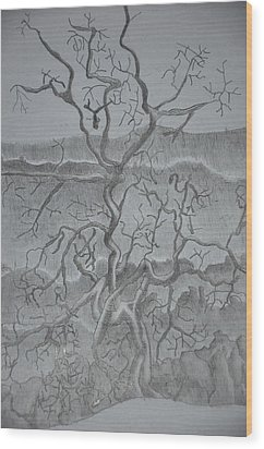 Tangled Tree Of A Lonely Mind Wood Print