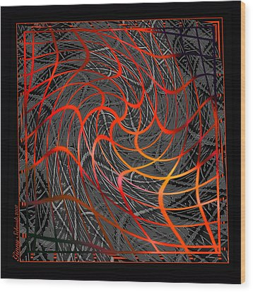 Tangled Web Of Lies Wood Print by Ginny Schmidt