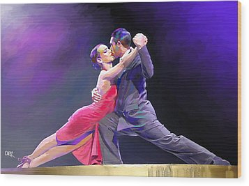 Tango Wood Print by Carvil