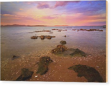 Wood Print featuring the photograph Tanilba Bay Sunset by Paul Svensen
