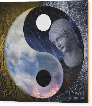 Wood Print featuring the digital art Taodream by Rosa Cobos
