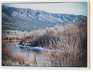 Taos Creek Wood Print by Lisa  Spencer