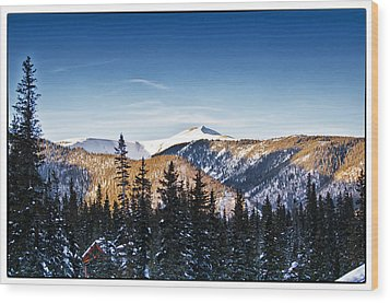 Taos Mountains Sunset  Wood Print by Lisa  Spencer