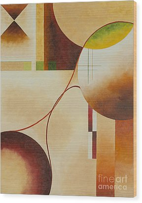 Wood Print featuring the painting Taos Series- Architectural Journey II by Arthaven Studios
