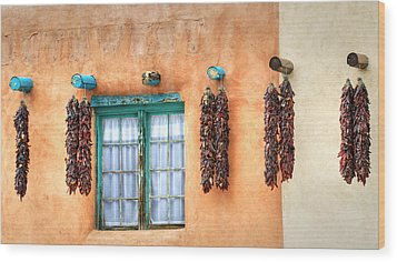 Taos Wood Print by Stellina Giannitsi