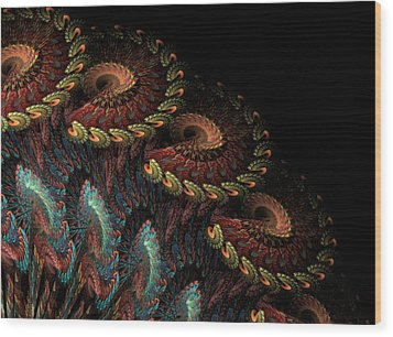 Wood Print featuring the digital art Tapestry by Kathleen Holley