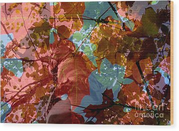 Tapestry Of Autumn 2 Wood Print by France Laliberte