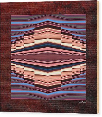 Tapestry On A Brick Wall Wood Print by Greg Reed Brown