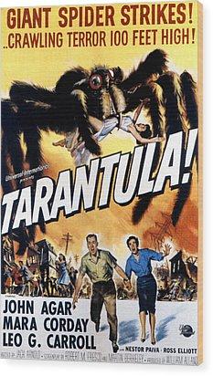 Tarantula, John Agar, Mara Corday, 1955 Wood Print by Everett