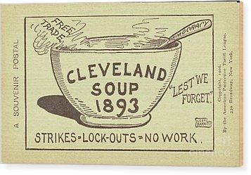 Tariff League Postcard, 1906 Wood Print by Granger