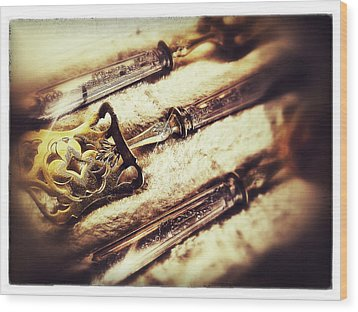 Tarnished Wood Print by Olivier Calas