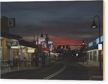 Wood Print featuring the photograph Tarpon Springs After Sundown by Ed Gleichman
