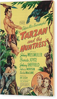 Tarzan And The Huntress, Patricia Wood Print by Everett