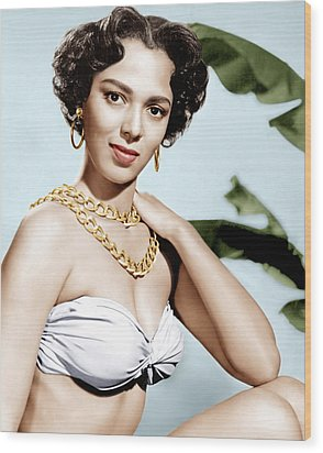 Tarzans Peril, Dorothy Dandridge, 1951 Wood Print by Everett
