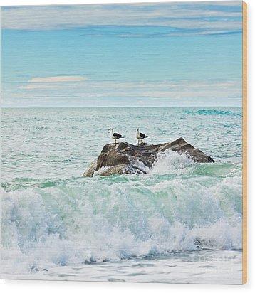 Tasman Sea Wood Print by MotHaiBaPhoto Prints
