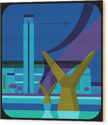 Tate Gallery And Millennium Bridge, London, United Kingdom Wood Print by Nigel Sandor