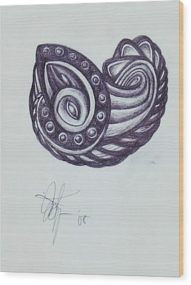 Tatoo 08 Wood Print by Xole