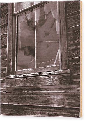 Tattered Clouds - Bodie Wood Print by Jan W Faul