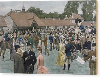 Tattersall's Newmarket Pub Wood Print by Isaac J Cullin and I P Mendoza