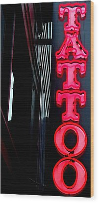 Tattoo Granville Wood Print by Randall Weidner