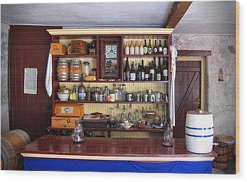 Tavern Civil War Era Wood Print by Dave Mills