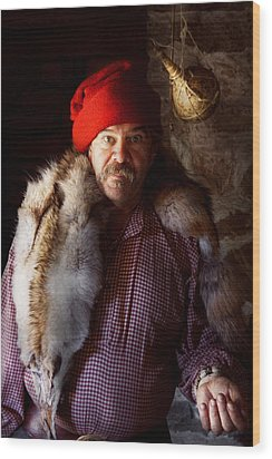 Taxidermist - Jaque The Fur Trader Wood Print by Mike Savad