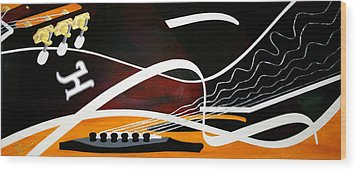 Taylors Curves... Wood Print by Guadalupe Herrera