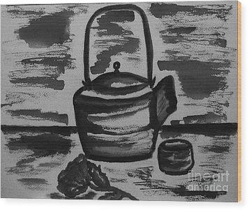 Tea For Me Wood Print by Marsha Heiken