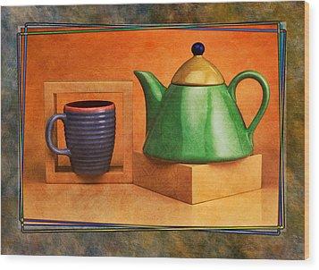 Tea  Wood Print by Mauro Celotti
