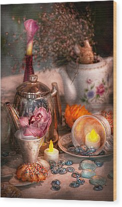 Tea Party - I Would Love To Have Some Tea  Wood Print by Mike Savad