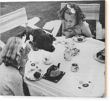 Tea Party Wood Print by Fox Photos