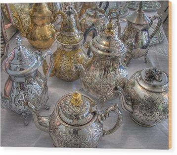 Tea Time Wood Print by Jane Linders