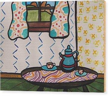 Tea Time Wood Print by John Williams