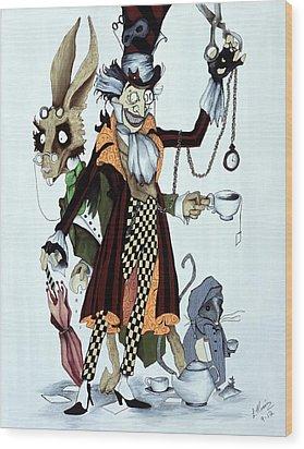 Tea Time Wood Print by Leeann Stumpf