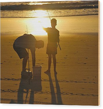 Wood Print featuring the photograph Teach A Man To Fish... by Eric Tressler
