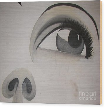 Tear Stains Wood Print by Rachel Carmichael