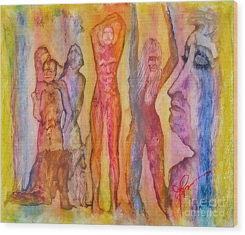 Tears For The Misfits Wood Print by Linda May Jones