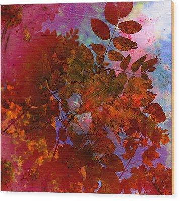 Tears Of Leaf  Wood Print by Jerry Cordeiro