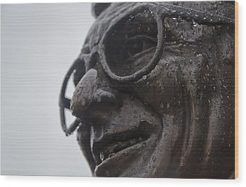 Tears Of Paterno Wood Print by Michael Misciagno