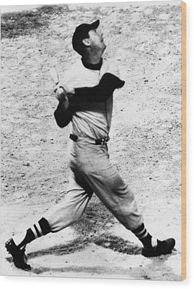Ted Williams Of The Boston Red Sox, Aug Wood Print by Everett