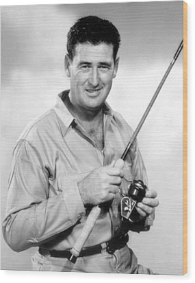Ted Williams, With His Signature Wood Print by Everett