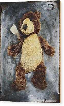 Teddy Bear Wood Print by Skip Nall