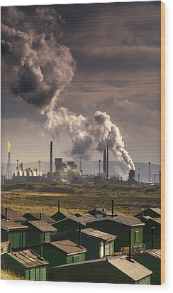 Teesside Refinery, England Wood Print by John Short