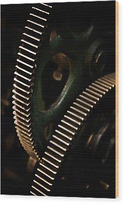 Teeth Wood Print by Odd Jeppesen