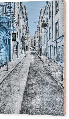 Telegraph Hill Blue Wood Print by Scott Norris