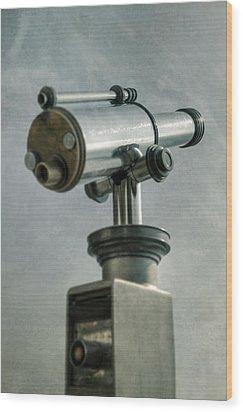 Telescope Wood Print by Joana Kruse