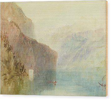Tell's Chapel - Lake Lucerne Wood Print by Joseph Mallord William Turner