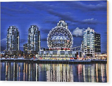 Telus Science Center Vancouver Bc Wood Print by Lawrence Christopher